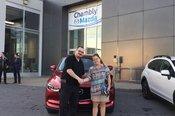 Félicitations à Mme Gendron pour l'achat de sa nouvelle Mazda CX5 2017