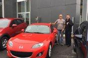 Félicitations à M. Richard Ouellet pour votre Mazda MX5