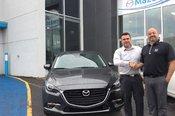 Félicitations M. Chaput pour l'achat de votre nouvelle Mazda 32017