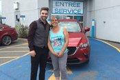 Félicitations Madame Palin pour l'achat de votre nouveau véhicule Mazda CX3 2017