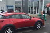 Félicitations à Mme Emee Landry pour votre nouvelle Mazda CX3 2017