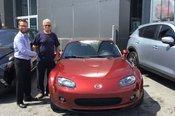 Félicitations Monsieur Tétrault pour votre nouvelle Mazda MX5