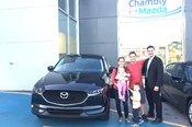 Félicitations à M. Lefebvre et Mme Lefrançois Harris pour l'achat de votre nouvelle Mazda CX5 2017