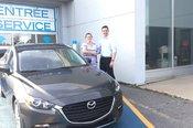 Félicitations Madame Lalonde pour votre nouvelle Mazda 3 2017