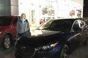 Félicitations Madame Nyberg pour votre nouvelle Mazda 3 2018