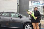 Félicitations à Dominique Champoux pour sa nouvelle voiture