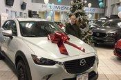 Félicitations à Lissa Anne McGaghey pour sa nouvellle Mazda CX3