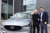 Félicitations Monsieur Larivée pour votre Mazda CX5. 2018