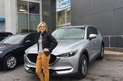 Félicitations à Julie-Anne St-Amant pour sa nouvelle Mazda CX5 2018