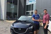 Félicitations à Cedric Turbide pour sa nouvelle Mazda 3 GS 2018