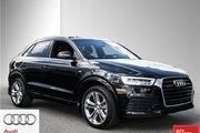 2017 Audi Q3 2.0T Technik quattro 6sp Tiptronic Fully Loaded Q3 - Low KM