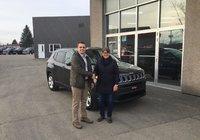 Mille merci à Mme Aline Lavoie pour l' achat de son tout nouveau Jeep Compass