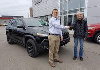 Un gros merci à Mme Pierrette Lebel pour l'achat de son nouveau Jeep.