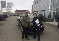 Merci à Mme Manon Levasseur anciennement de Pohénégamook et maintenant de Quebec pour l'achat de son tout nouveau Chrysler 200.