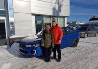Félicitation à Camille Desrosiers pour l'achat de sa nouvelle auto. Un beau Mitsubishi Lancer 4x4. Encore merci et prudence sur nos routes.