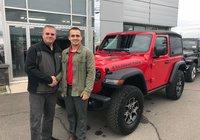 Merci à mon père Steve Michaud pour l'achat de son 3ieme Jeep Wrangler au Garage Windsor, cette fois un magnifique Rubicon! Bonne route.