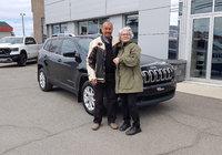 Merci à Mme. Denise Audet pour l'acquisition de son nouveau Jeep Cherokee.