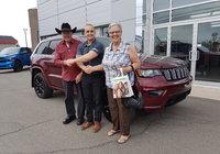Merci à M. Jean-Guy Gagné et sa conjointe pour leur magnifique Jeep Grand Cherokee Altitude, leur 3ieme véhicule ici au Garage Windsor ! Bonne route.
