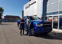 Félicitation à M. Keven Bourgoin Drouin client fidèle du Garage Windsor depuis plusieurs années pour son tout nouveau 2019 Ram 2500. Merci
