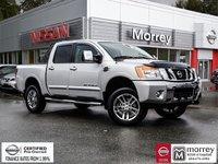 2015 Nissan Titan Crew Cab SL 4x4 * Lift, Leather, Camera, Navi, USB Local BC Truck, One Owner, No Collisions, Low KM!