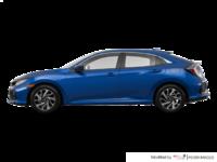 2017 Honda Civic hatchback LX   Photo 1   Aegean Blue Metallic