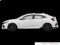 2017 Honda Civic hatchback SPORT   Photo 1   White Orchid Pearl
