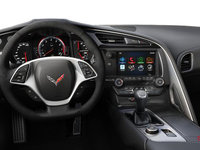 2018 Chevrolet Corvette Coupe Stingray Z51 1LT | Photo 3 | Jet Black Competition Sport buckets Leather seating surfaces with sueded microfiber inserts (192-AE4)