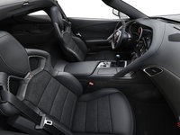 2018 Chevrolet Corvette Coupe Z06 1LZ   Photo 1   Jet Black Competition Sport buckets Leather seating surfaces with sueded microfiber inserts (192-AE4)