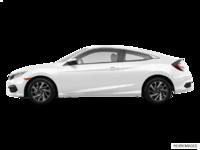 2018 Honda Civic Coupe LX   Photo 1   Taffeta White