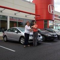 Belle expérience lors de l'achat de ma nouvelle Honda Civic! Nicole Doiron-Bertin