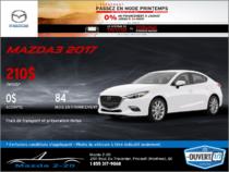 Financez la Mazda3 2017 aujourd'hui!