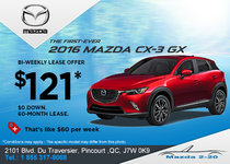 Get the all-new 2016 Mazda CX-3!