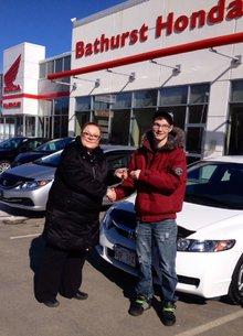 Première voiture achetée chez Bathurst Honda et très satisfait du service! Shawn Godbout