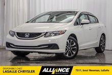 Honda Civic Sedan EX | CAMERA ET CAMERA ANGLE MORT | SIEGES CHAUFF | 2015