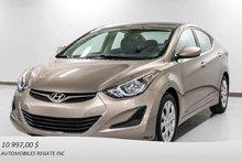 Hyundai Elantra BALANCE DE GARANTIE, DEMARREUR A DISTANCE 2014