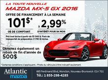 Mazda MX-5 GX 2016 à partir de 101$ par semaine!