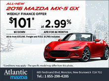 The 2016 Mazda MX-5 GX - Finance it from $101 Weekly!