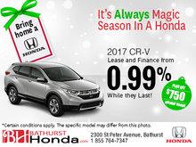 Get the 2017 Honda CR-V Today!