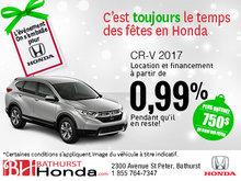 Obtenez le Honda CR-V 2017 aujourd'hui!