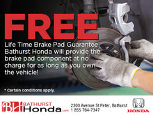 Free Lifetime Brake Pad Guarantee