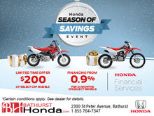 Honda's Season of Savings Event