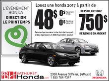 L'événement Honda direction le printemps
