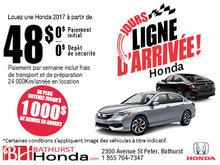 L'événement Jours ligne d'arrivée Honda!