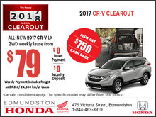 Get the New 2017 Honda CR-V Today!