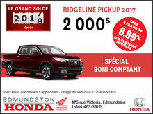 Obtenez la Honda Ridgeline 2017!