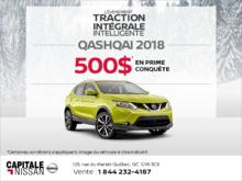 En prime conquête sur le Qashqai 2018! chez Capitale Nissan