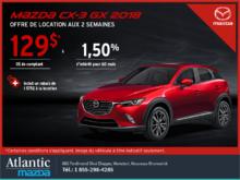 Obtenez le Mazda CX-3 2018 aujourd'hui!