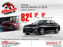 Louez la Honda Accord Berline 2018!