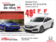 Louez la Honda Civic Sedan 2018!