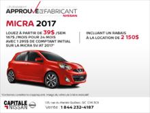 Nissan Micra 2017 chez Capitale Nissan